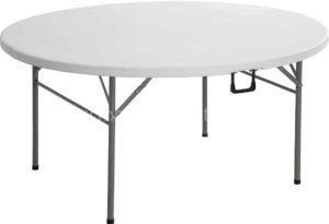 Lifetime 5 Foot Round Folding Table