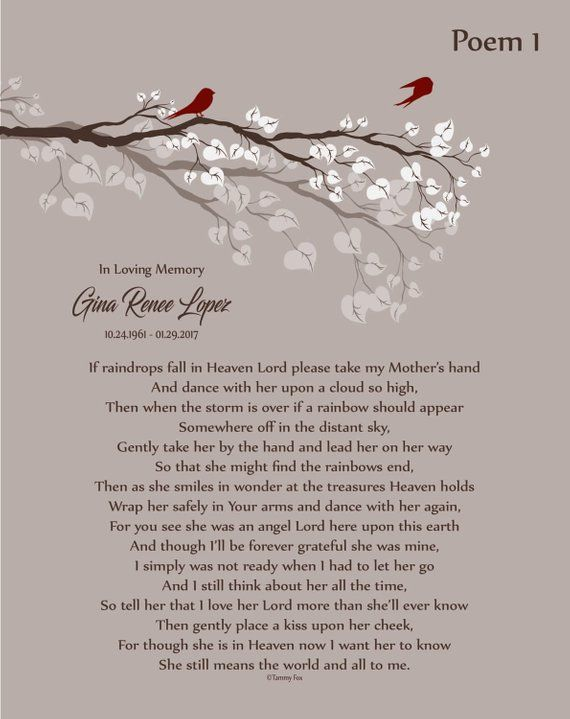 Loss of Mother-In Memory of Mom-Mother in Heaven-P