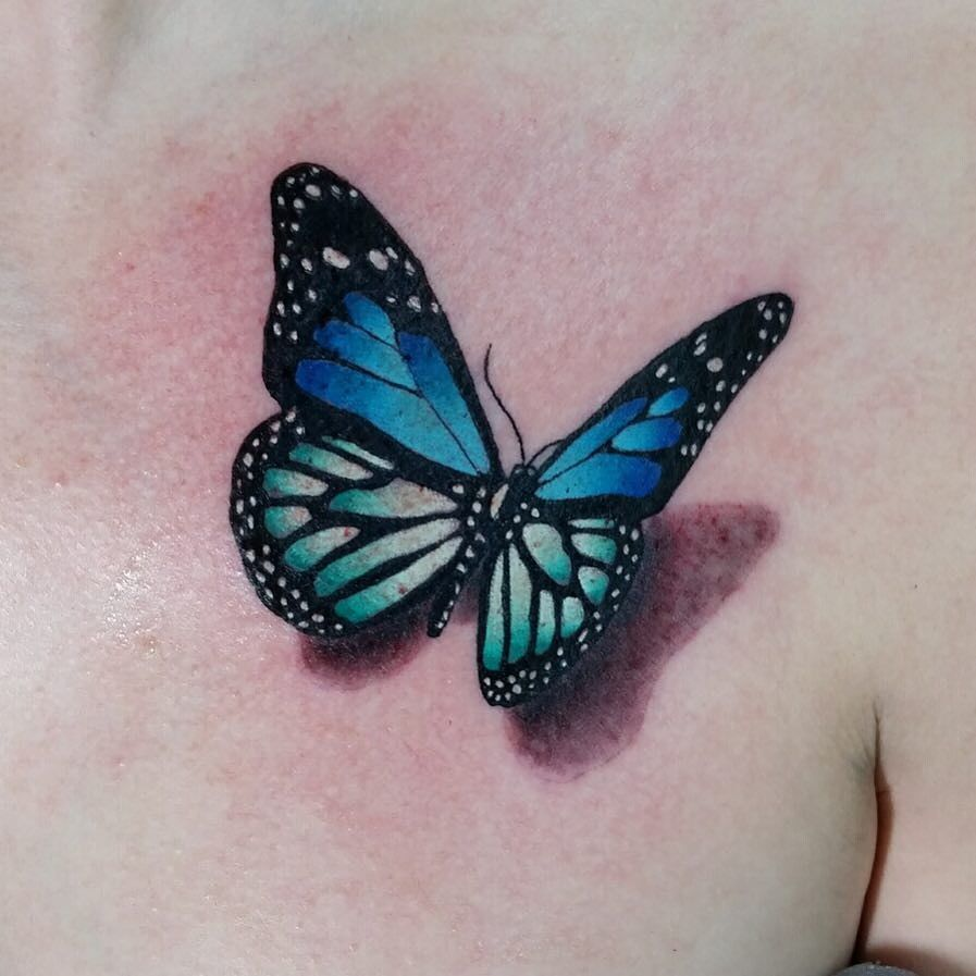 Blue butterfly tattoo pictures