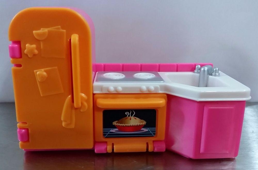 Loving Family My First Dollhouse Furniture Kitchen Refrigerator Sink Stove 2005 #FisherPrice