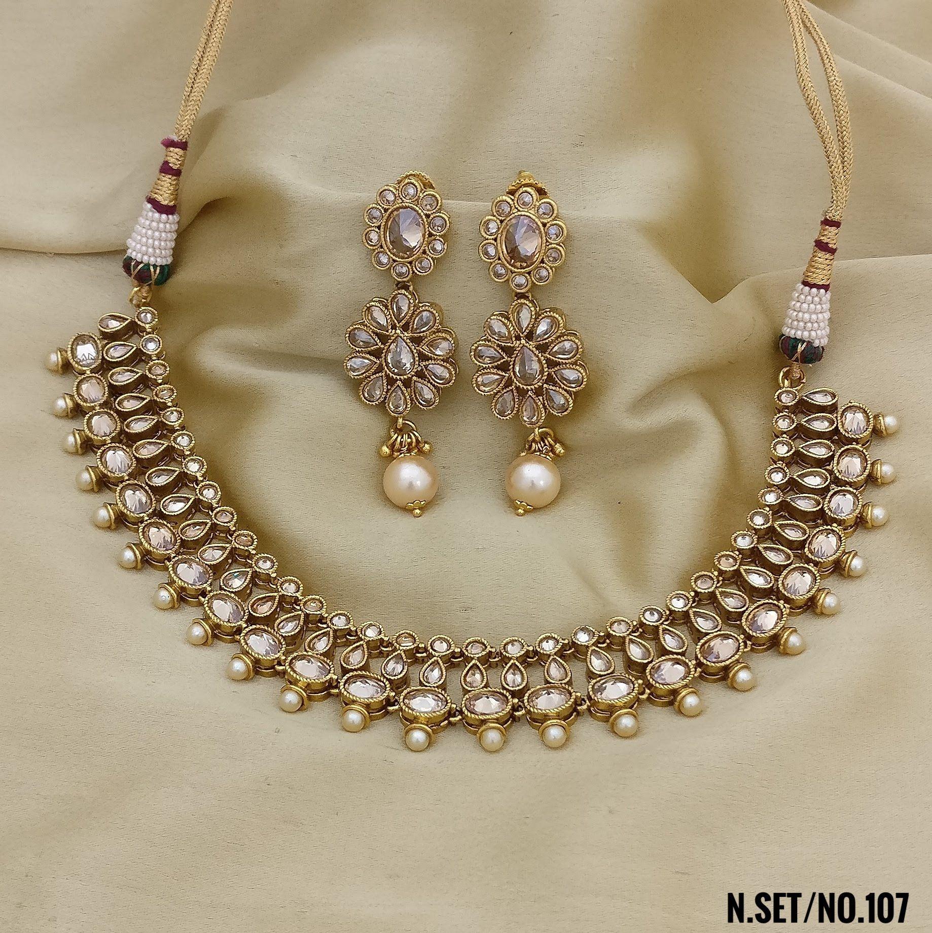 RasRava Antique Necklace Set Party Wear Necklace Set Rama