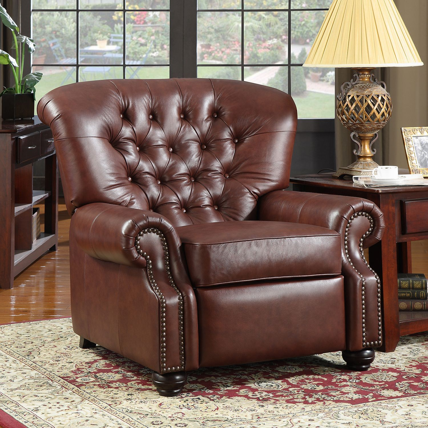 Monticello Pushback Recliner Leather