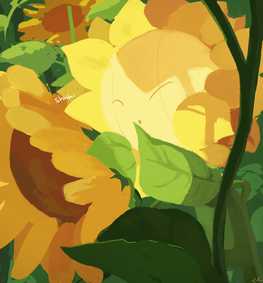 pokedump: 192 - Sunflora It converts sunlight into energy. In the darkness after sunset, it closes its petals and becomes still.