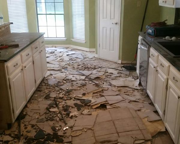 Residential Kitchen Floor Epoxy Before