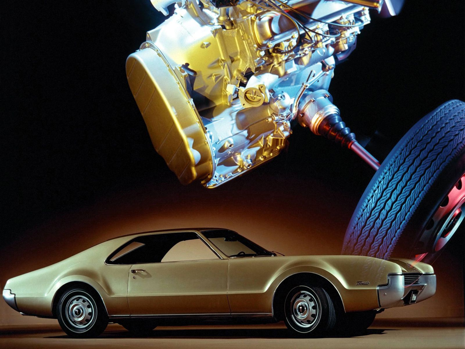 1966 oldsmobile toronado 9487 luxury classic fwd engine wheel g