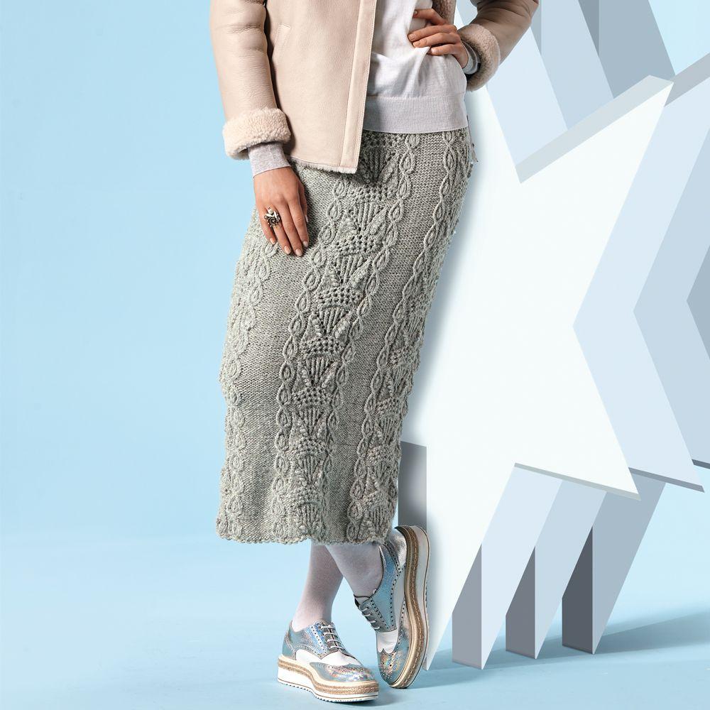 Юбка с рельефным узором | ВЯЗАНИЕ | Pinterest