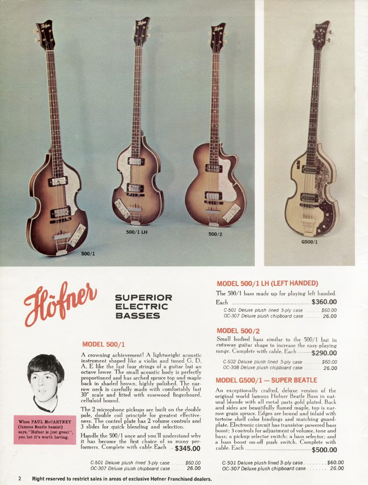 Page Two Of The 1967 Hofner Catalogue Hofner Is Just Great You Bet It S Worth Having Quite Right Paul Mccartn In 2020 Bass Guitar Guitar Acoustic Guitar Pictures
