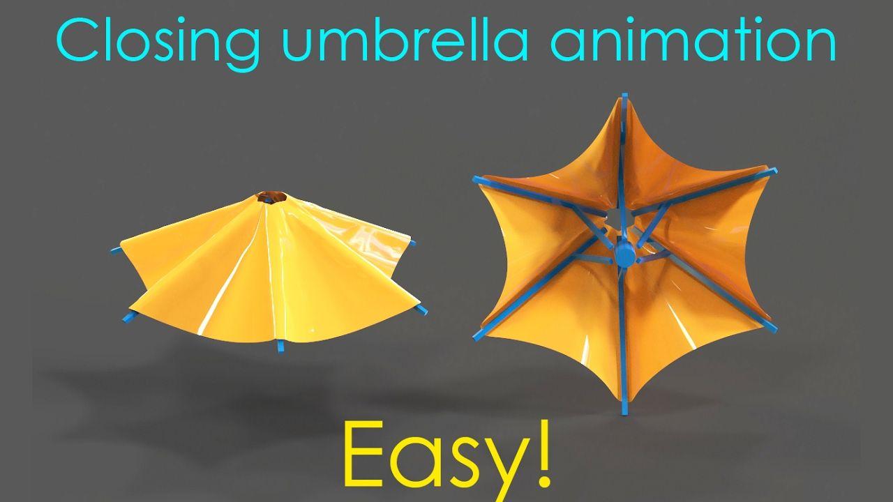 Making an umbrella animation - 3ds max tutorial | 3dsmax