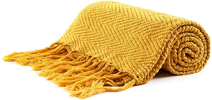 Amazon Com Longhui Bedding Fringe Knit Cotton Throw Blanket 50 X 63 Inches Decorative Knitted Cover Cotton Throw Blanket Throw Blanket Textured Throw Blanket