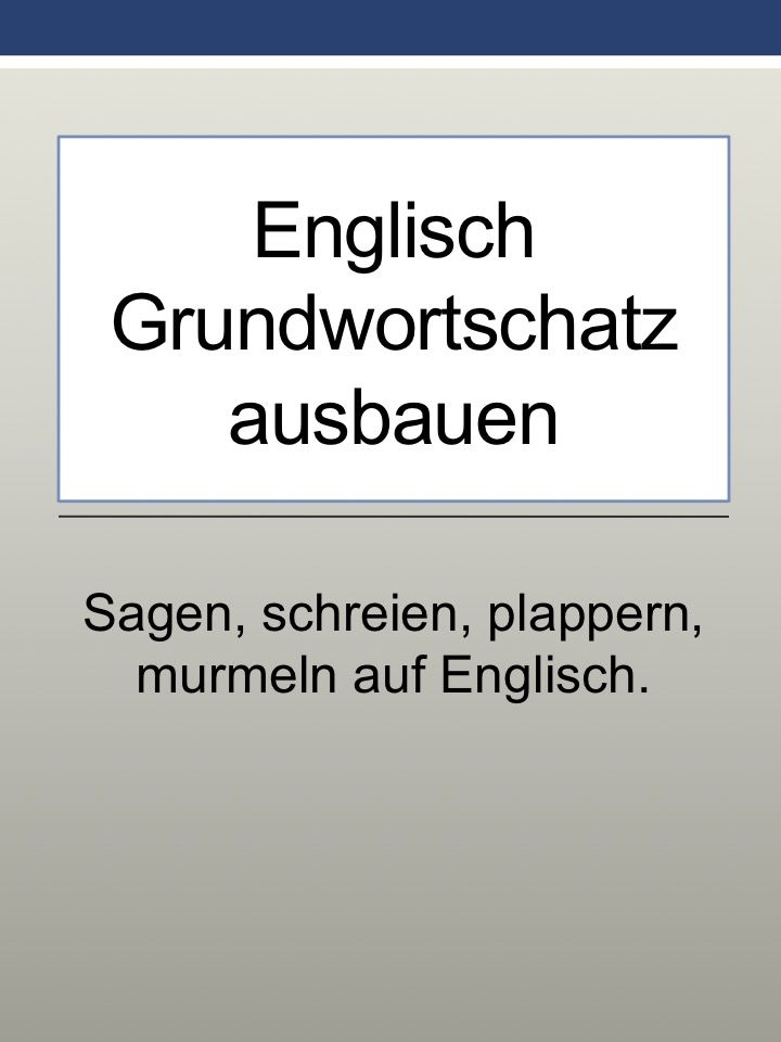 Ausbauen Englisch