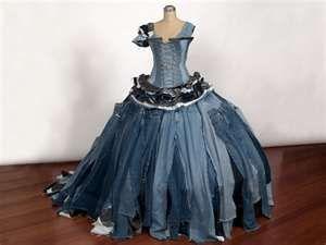 ... gown ingridsteinmetz Recycled, Repurposed & Reconcepted Formal Denim