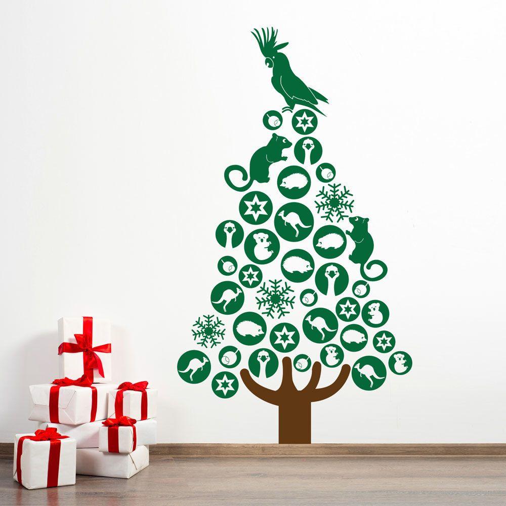 Our Australian Christmas Tree Christmas Tree Wall Decal Christmas Decorations Australian Australian Christmas