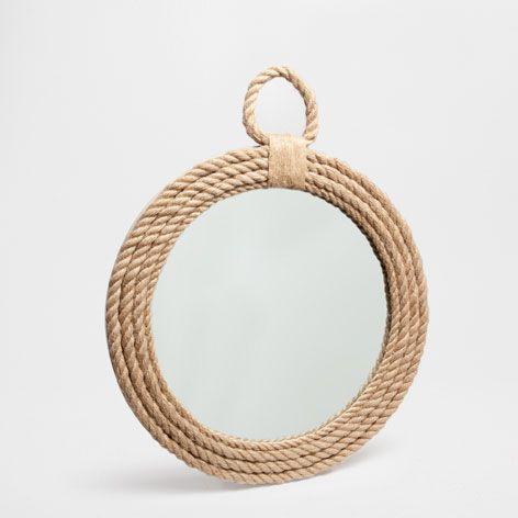 Miroir rond corde miroirs d coration zara home france liste naissance pinterest - Miroir rond avec corde ...
