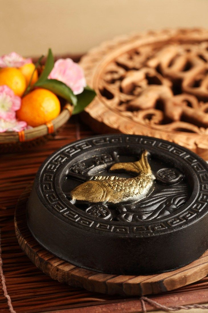 Black Sesame Nian Gao/Chinese New Year cake