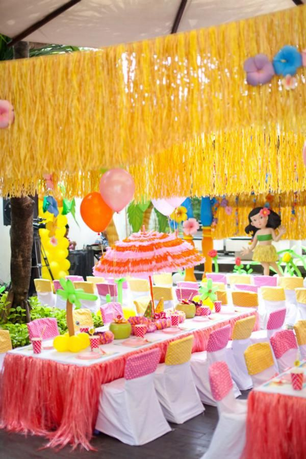 Hawaiian Luau Party Decorations | Items Used In This Party Available In  Karau0027s Party Ideas Shop :