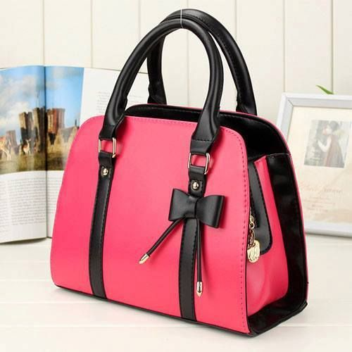 Fashion Style Lady Handbag Little Bow Beige Rose Leisure Shoulder Bag Purs New