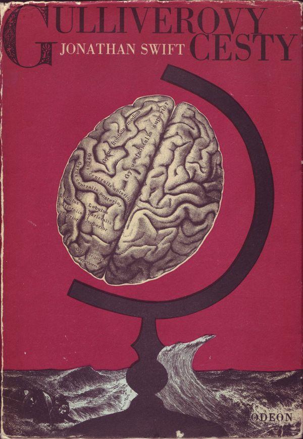 Jonathan Swift, Gulliverovy Cesty (Gulliver's Travels),  Prague 1968. Jacket, cover, illustrations by Bohumil Stepan.