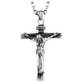 Catholic jesus cross pendant titanium crucifix necklace for men crucifix catholic jesus cross pendant mozeypictures Gallery