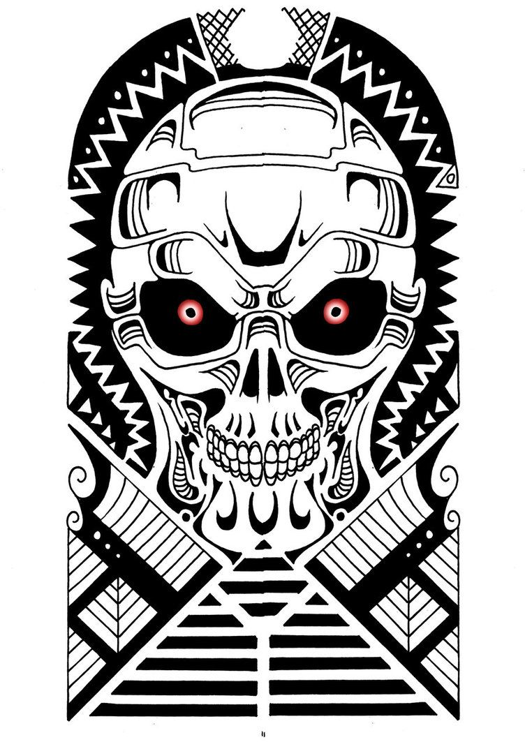 terminator polynesian tribal design by yayzus tattoo ideas pinterest polynesian tribal. Black Bedroom Furniture Sets. Home Design Ideas