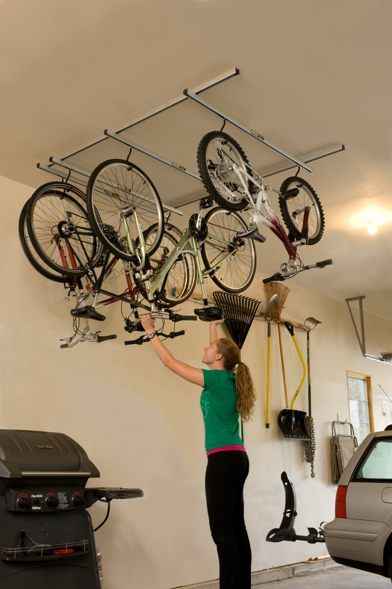 garage bike inside creative pin modern style ideas house metal rack the amazing bicycle designed storage