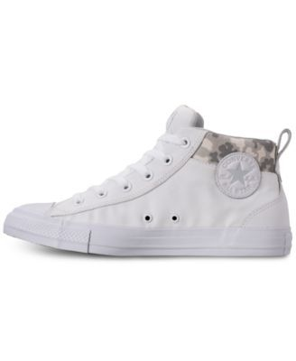 21b20e8e68f6 Converse Men s Chuck Taylor All Star Street Mid Combat Zone Casual Sneakers  from Finish Line - White 13