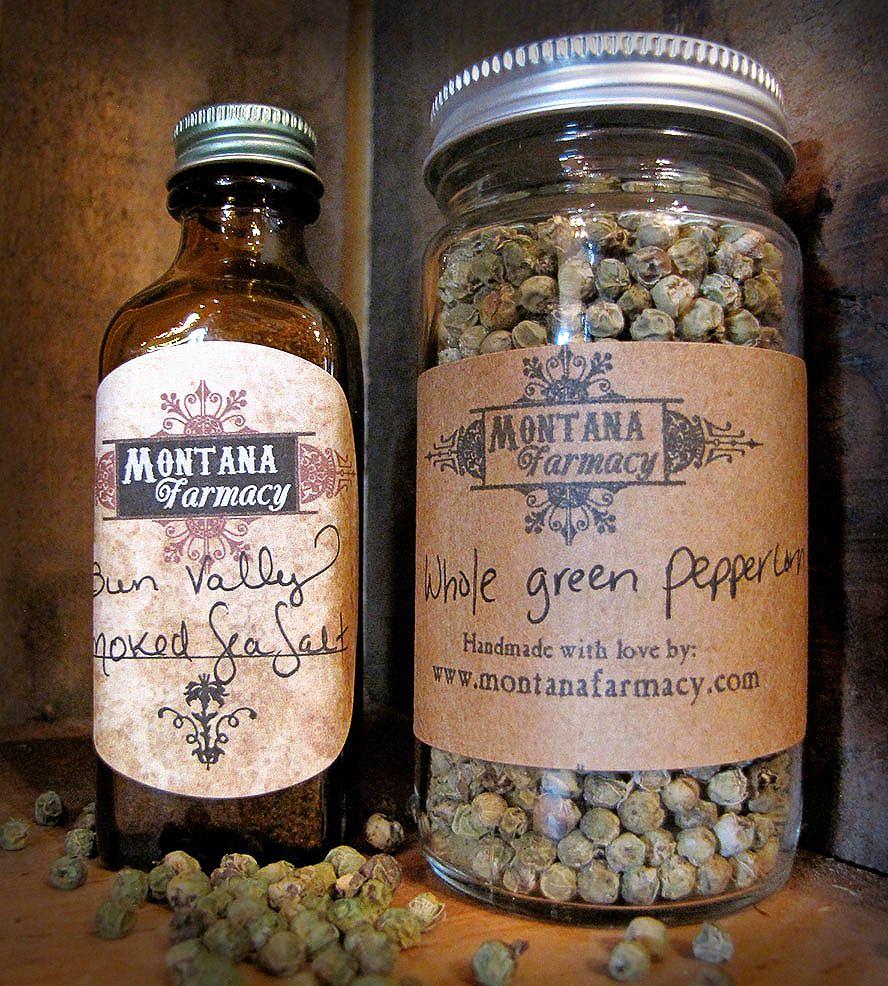 Simple Spices Set – Whole Green Peppercorn & Sun Valley Salt    Montana Farmacy