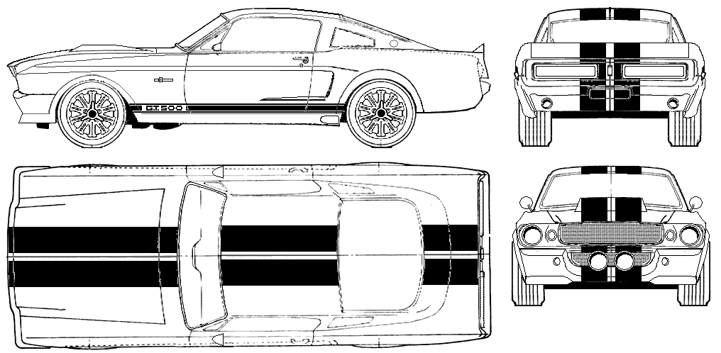 1967 shelby gt500 eleanor coupe blueprint