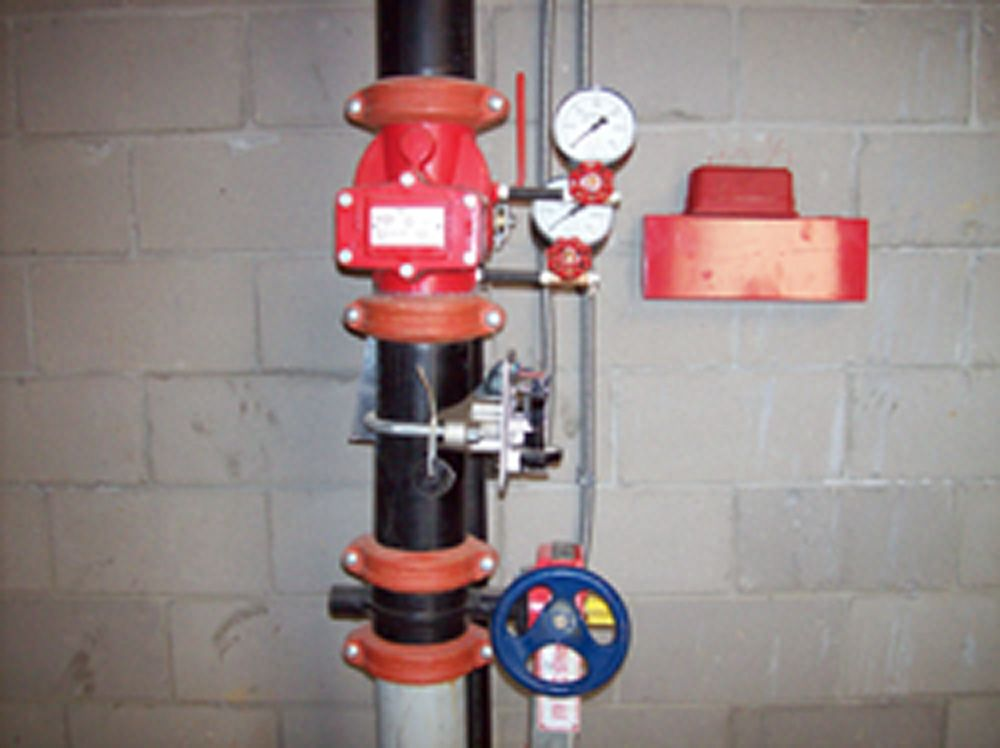 Riser: a vertical water supply pipe that extends through