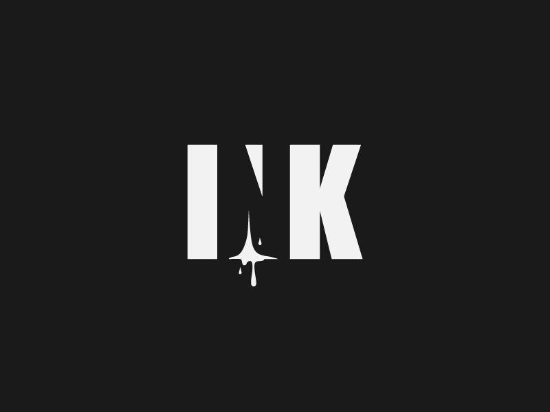 Ink Logo Design Ink Logo Negative Space Logos Logos Design