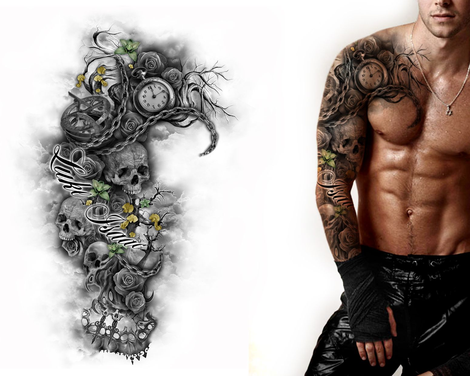 Full Sleeve & Chest Design
