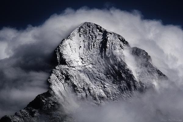 """The Eiger (Europe's Most Deadly North-Face, 3,970m-13,025ft), From Mürren, Lauterbrunnental (Lauterbrunnen Valley), Interlaken-Oberhasli District, Canton of Bern, Switzerland"""