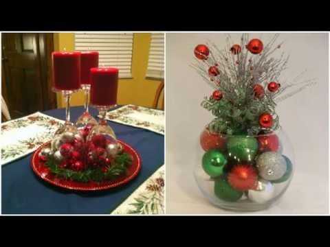 Adornos navide os con recipientes de vidrio decoracion - Adornos de mesa navidenos ...