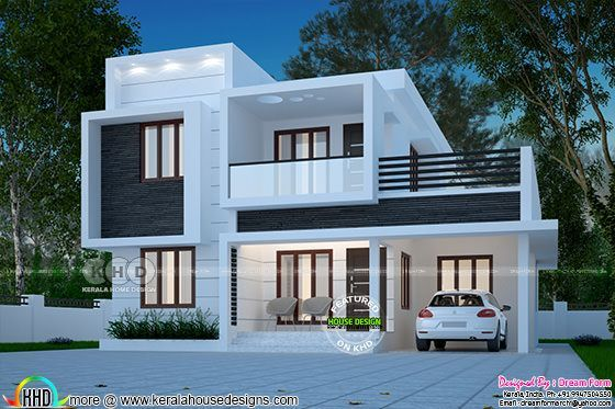1873 square feet box model house design | Kerala house ...