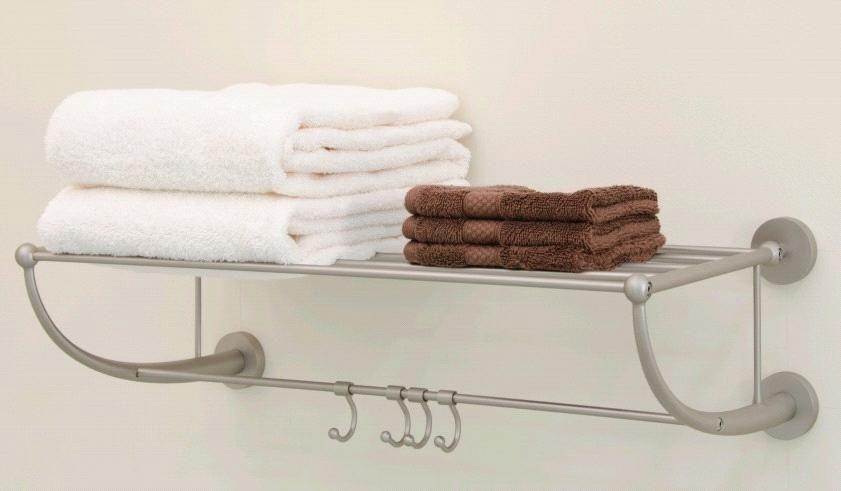 fascinating Hotel Style Towel Rack Brushed Nickel Finish Part - 15: hotel style towel rack