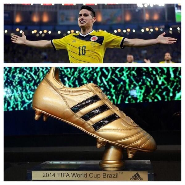 James Rodriguez Was With The Artillery Of The World Cup With Six Goals James Rodriguez Adidas Good Soccer Players