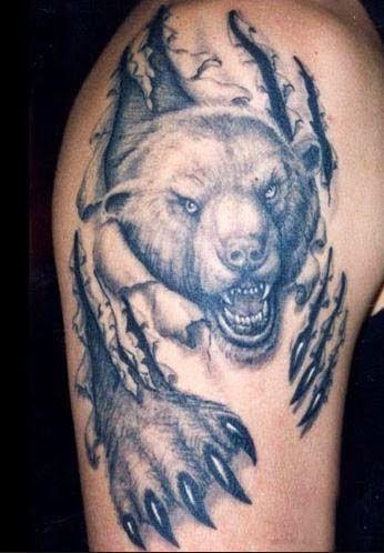 Tatouage ours 37 mod les de grizzly d couvrir 12 tatouage ours pinterest tatouages - Tatouage cerf signification ...