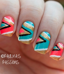 Repinned: Treat yourself to some Tribal nails!