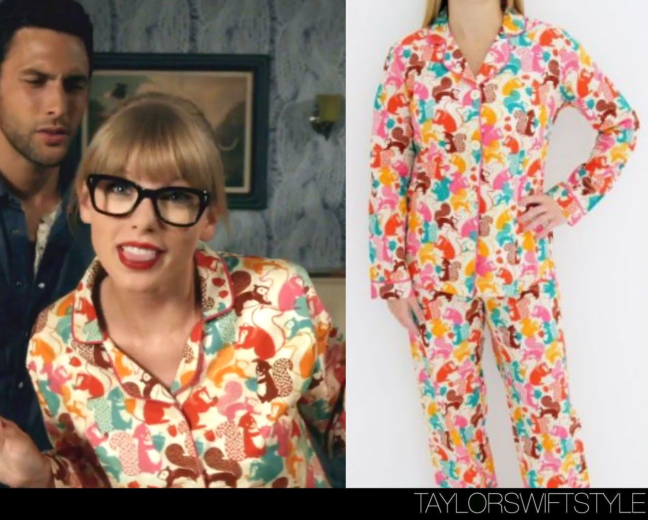 We Are Never Ever Getting Back Together Music Video 2012 2pc Taylor Swift Squirrel Pajamas Available At M Taylor Swift Costume Taylor Swift Style Fashion