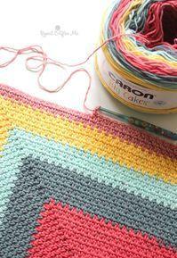 Crochet Caron Big Cakes Moss Stitch Shawl - Repeat Crafter Me - Diy Crafts