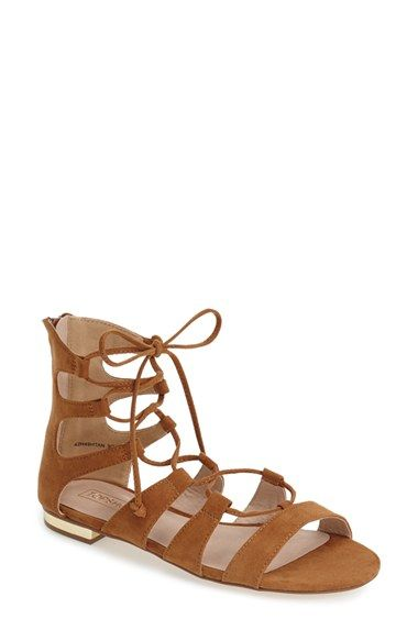 cd712bdeb3 Topshop Lace-Up Suede Gladiator Sandal in Brown (TAN)   Lyst   Shoes ...