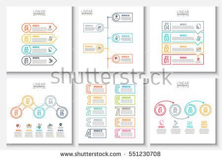 Business Data Visualization Process Chart Abstract Elements Of
