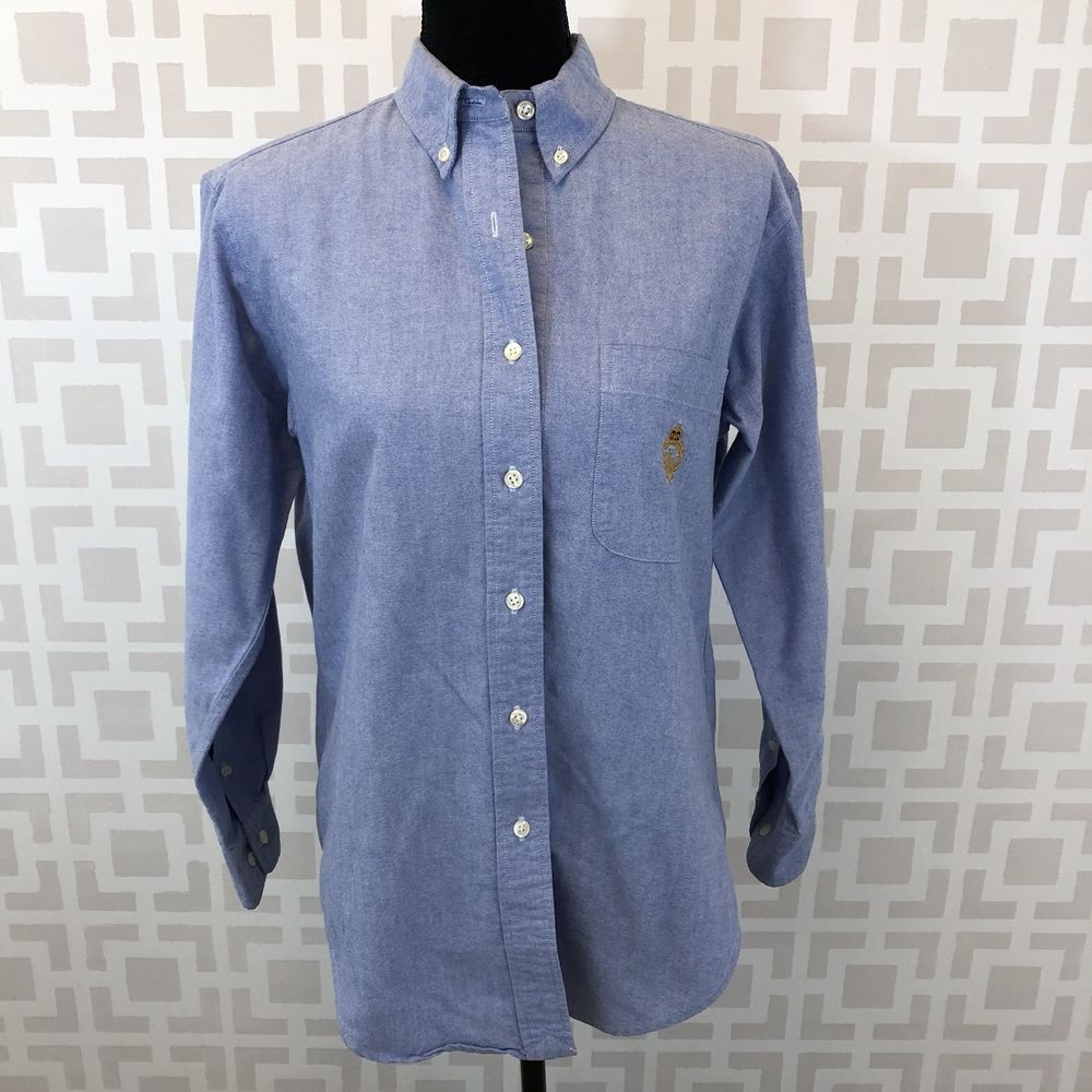 35aa3d78e Lauren Ralph Lauren Womens 6 Blue Long Sleeve Oxford Button Down Tunic  Blouse #LaurenRalphLauren #Blouse #Casual