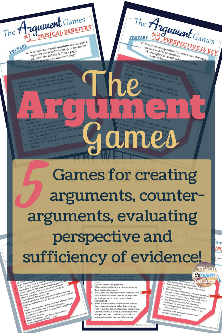Argument Games  A Fun Way To Get Students Practicing Their