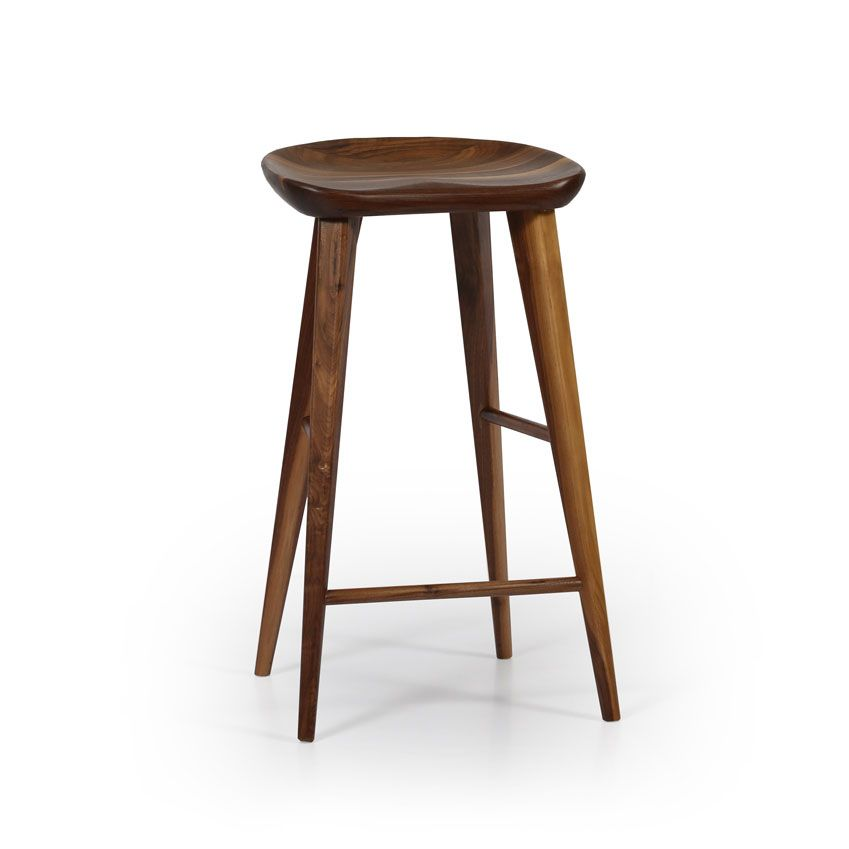 Who Knew A Solid Wood Stool Could Be So Comfortable With