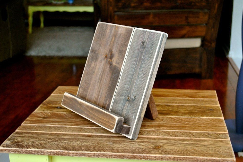 Cook book stand, Wood ipad stand, Cookbook