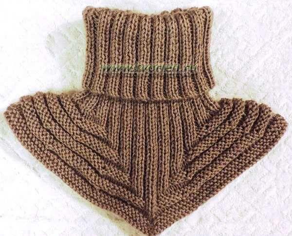 Схема вязания манишки для мальчика 950