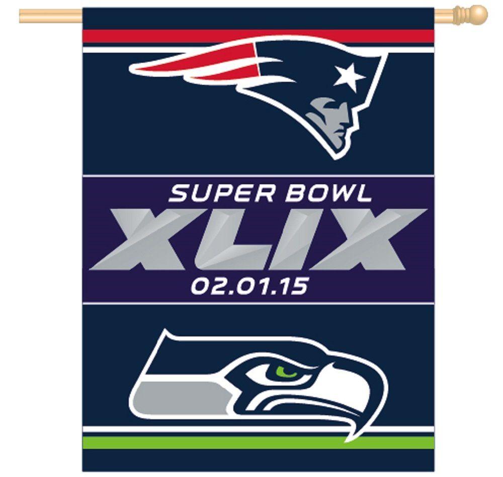 Patriots Vs Seahawks Superbowl Super Bowl Xlix 49 Arizona 27x37 Flag Or Banner Super Bowl Xlix Super Bowl New England Patriots Apparel