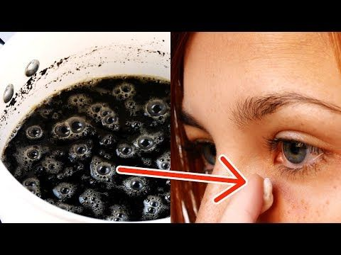 Photo of Woman smears coffee on her eyes. After 2 minutes it is hardly recognizable.
