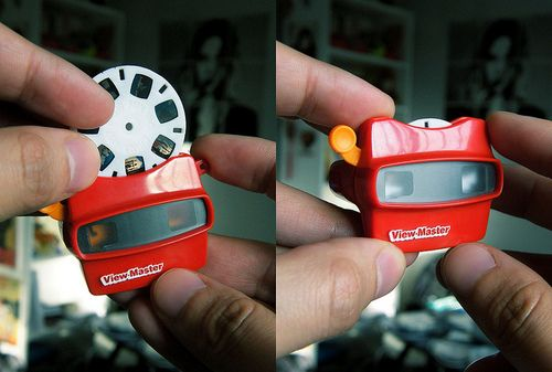 Dollhouse Miniatures 1:12 scale Remember View master and reels