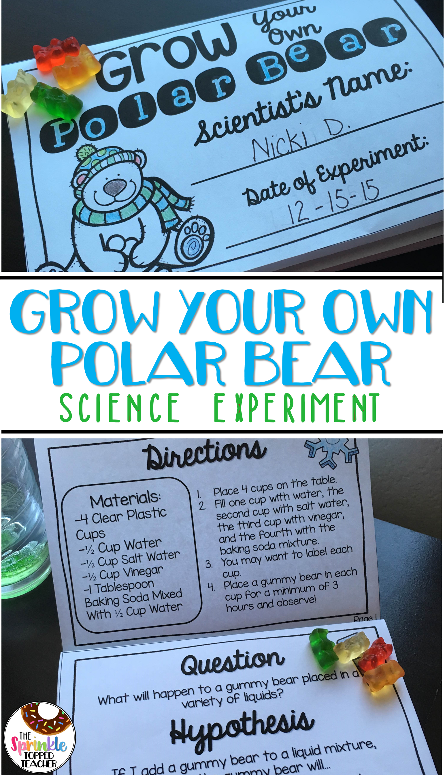 Grow Your Own Polar Bear Science Experiment Using Scientific Method ...
